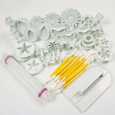 46pcs Fondant Cake Decorating Kit Cookie Mould Icing Plunger Cutter Tool TR9207