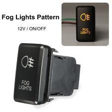 Orange LED FOG LIGHT Push On-Off Switch For Toyota Landcruiser Hilux Prado  /