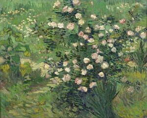 Vincent Van Gogh Roses Giclee Art Paper Print Paintings Poster Reproduction