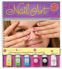 Nail Art by Scholastic  Girls nail painting WITH 6 PAINT POTS ■ BRAND NEW BOOK ■