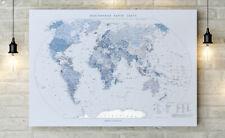 world map in Belarusian 100x67 cm Belarus