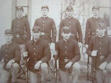 Indian Wars Photograph of 8  Soldiers...5.25'' x 4.25'' in.
