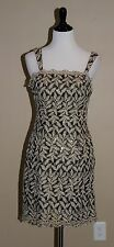 Aspeed USA Dress Womens Size M 6-8 Metallic Gold Black Lace Cocktail Sleeveless