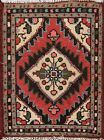 Vintage Geometric Traditional Oriental Area Rug Hand-knotted Wool Carpet 1x2 ft