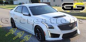 2016+ Cadillac CTS-V Carbon Fiber Rocker Panels (Side Skirts)
