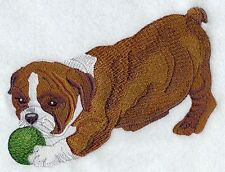 Large Embroidered Zippered Tote - English Bulldog Puppy I1292