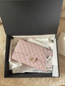Brand NEW Chanel Spring 2021 Classic Flap Light Pink/Lilac *Unicorn Bag*