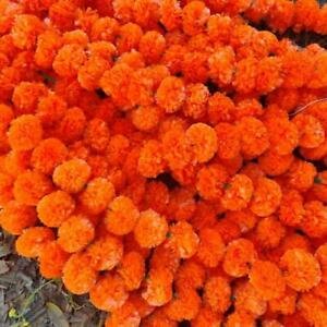 Wholesale Diwali Decoration Wall Hanging Orange Marigold Vine Wedding Garlands