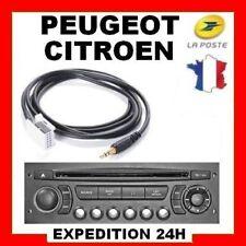 Cable AUX MP3 Auxiliaire 3.5mm Peugeot RD4 RT4 307 407 3008 RCZ 5008 308 NEUF