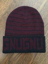 GNU Nug Burton Beanie Hat Toque Sample - Black Red Maroon - AWESOME - RARE