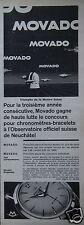 PUBLICITÉ 1959 MOVADO KINGMATIC TRIOMPHE DE LA MONTRE SUISSE  - ADVERTISING