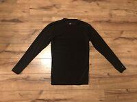 Men's Badger Sport Black Athletic Long Sleeve Shirt Size Medium ~ EUC ~ *WOW*