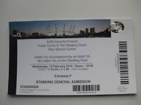 FRANK TURNER  O2 LONDON  12/02/2014  TICKET