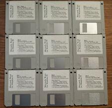 "Microsoft Word for Windows 95 on Nine (9) Vintage 3.5"" Diskettes - RARE"