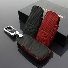 Car Key Case Cover for Audi Fixture A4L 17 Q7 16 TT 15 Key Bag Holder Leather