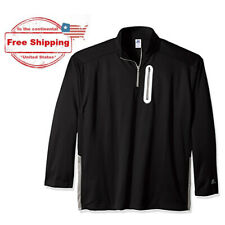 2X-Tall RUSSELL Athletic Men's Big & Tall 1/4 Zip LS Poly Fleece Pullover, Black