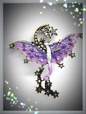 Mystical Angel Brooch,Stars & Moon,Fairy,Stunning,Wings,Gift Idea,Fashion,Brooch
