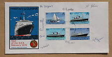 TRISTAN DA CUNHA VISIT OF Q.E.2 1979 PAIR OF FDC'S SIGNED BY 7 OF THE ISLANDERS