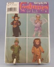 Simplicity Toddler Halloween Costume #4468 Kids Monkey Frog Lion Angel New
