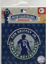 "Ken Griffey Jr Retirement Player # Licensed Patch Measures approx. - 4"" x 4"""