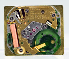 Seiko 6530A Quartz Watch Movement with Dial and Hands For Parts or Repair