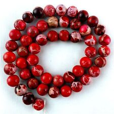 "8mm Round Red Sea Sediment Jasper jewelry making beads strand 15.5"" A8TZ15RL"