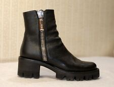 500$ BALLIN black chunky sole platform ankle combat boots sz 39-40 uk6.5 us8.5-9