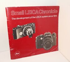 Small Leica Chronicle - Development of the Leica System since 1914, 63 Pages