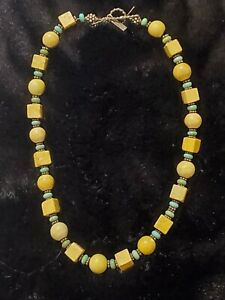Paige Wallace For Marushka Turquoise Beaded Necklace Designer Signed