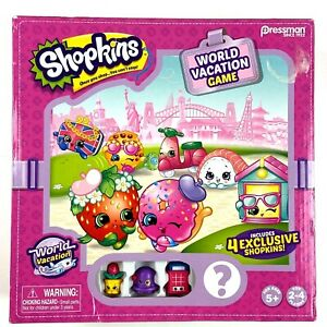 Shopkins World Vacation Board Game With 4 Exclusive Shopkins NEW
