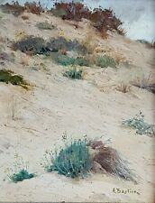 Bastien A. - Paysage de dune, huile originale, signée