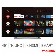 Toshiba 49 Inch 4K Ultra HD Smart Android TV HDR10, HLG Freeview Play 49UA3A63DB