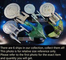 Eaglemoss STAR TREK USS Enterprise Zukunft Druckguss Satz 6 Metall Modelle