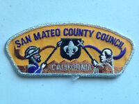 BOY SCOUT BSA CSP COUNCIL PATCH SAN MATEO COUNTY CALIFORNIA SMY BORDER CLOTH
