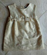 BABY GAP GIRLS TODDLER GOLD PLAYA WEDDING BROCADE SHIFT DRESS 18-24 MOS