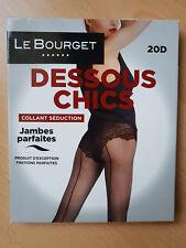 COLLANT SEDUCTION LE BOURGET DESSOUS CHICS 20 DEN TAILLE 1 COULEUR BORDEAUX