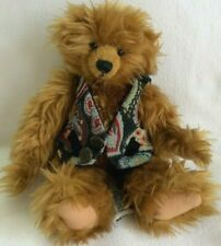 Ganz TEDDY BEAR REGGIE Cottage Collectibles 1996 Christy Rave VEST Plush JOINTED