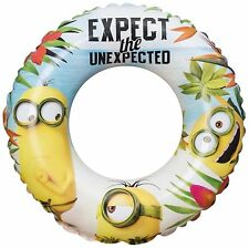 Minions Swim Ring in Bag Inflatable Swimming Aid Summer Holiday Beach Kids Fun