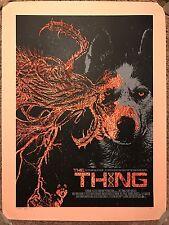 Qfschris The Thing John Carpenter Movie Print Poster Mondo Kurt Russell Horror