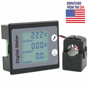 Digital AC 80-260V 100A Voltage Amp Power Energy Meter Monitor Voltmeter Ammeter