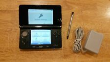 Nintendo 3DS Launch Edition Cosmo Black Handheld System TESTED!!