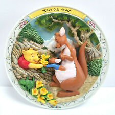 """Winnie The Pooh Collectible Plate Bradford Exchange """"Silly Old Bear"""" 3D #A11418"""