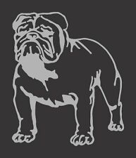 Silver Gray Metatlic Bulldog Die Cut Vinyl Window Decal/Sticker for Car/Truck