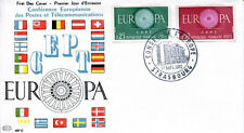 FRANCE FDC - 355A 1266 1267 1 EUROPA STRASBOURG 17 9 1960