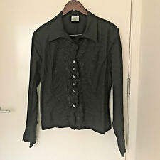 Laura Ashley Black embroidered blouse S14