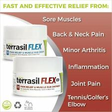 Terrasil Flex Pain Relief Cream & Muscle Rub Fast-Acting Pain Relief - Natural