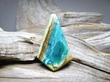 Blue Opal Gemstone Cabochon Fossilized Opalized Wood DIY Jewelry Pendant or Bead