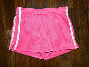 Girl's Justice Hot Pink Athletic Mesh Shorts Size 7/8