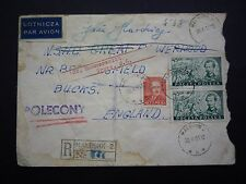 Poland 1951 registered cover to Angleterre-polecony cancel