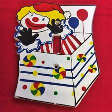 Vintage Coloful Clown Design Wood Switch Plate Cover Single Toggle w Screws